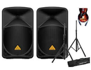 Behringer B112mp3 + B112D + statywy + kable 2000W