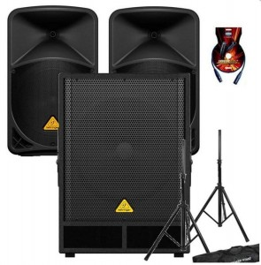 Behringer B115D x2 + VQ1800D x1 + statywy + kable